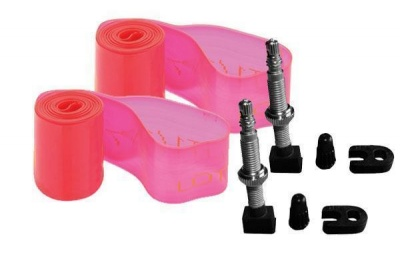 Kit tubeless per MTB 29 - 2 flap 25x0,8x1650mm e 2 valvole 4mm