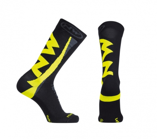 Northwave calzini ciclismo Extreme Winter High Socks colore Black/Yellow Flu