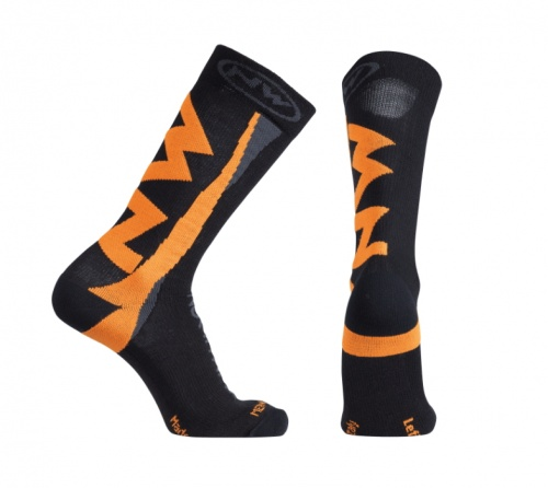 Northwave calzini ciclismo Extreme Winter High Socks colore Black/Orange Flu