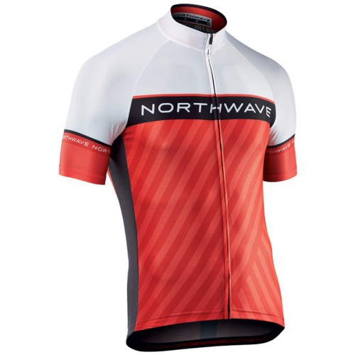 Northwave maglia ciclismo Logo 3 White/Red